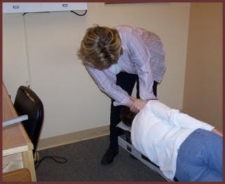 A NUCCA Chiropractor Makes A Gentle and Controlled Correction Behind the Ear